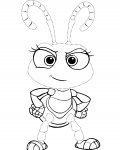 A Bug's Life Tracing Coloring Page for kids