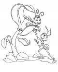 A Bug's Life Coloring Pages for boys