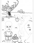 Adiboo Free Tracing Coloring Page