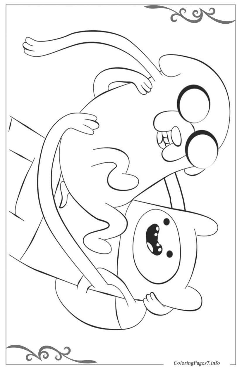 Adventure Time Printable Coloring Pages for Kids