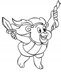 Adventures of the Gummi Bears Coloring Page for your Little Ones