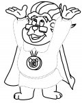 Adventures of the Gummi Bears Free Tracing Coloring Page