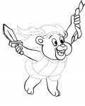 Adventures of the Gummi Bears Printable Tracing Coloring Page
