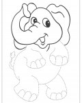 African animals Tracing Coloring Page for kids