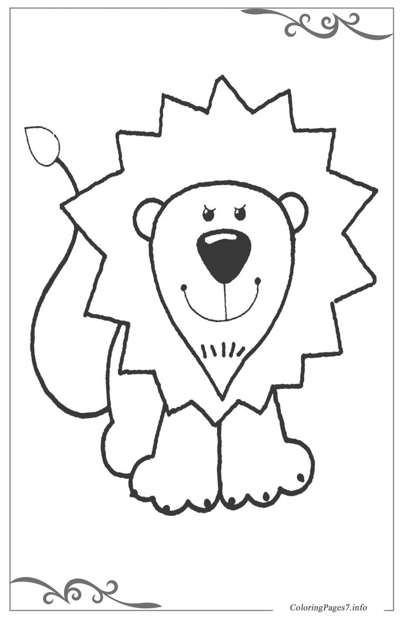 African animals Free Coloring Pages for Kids