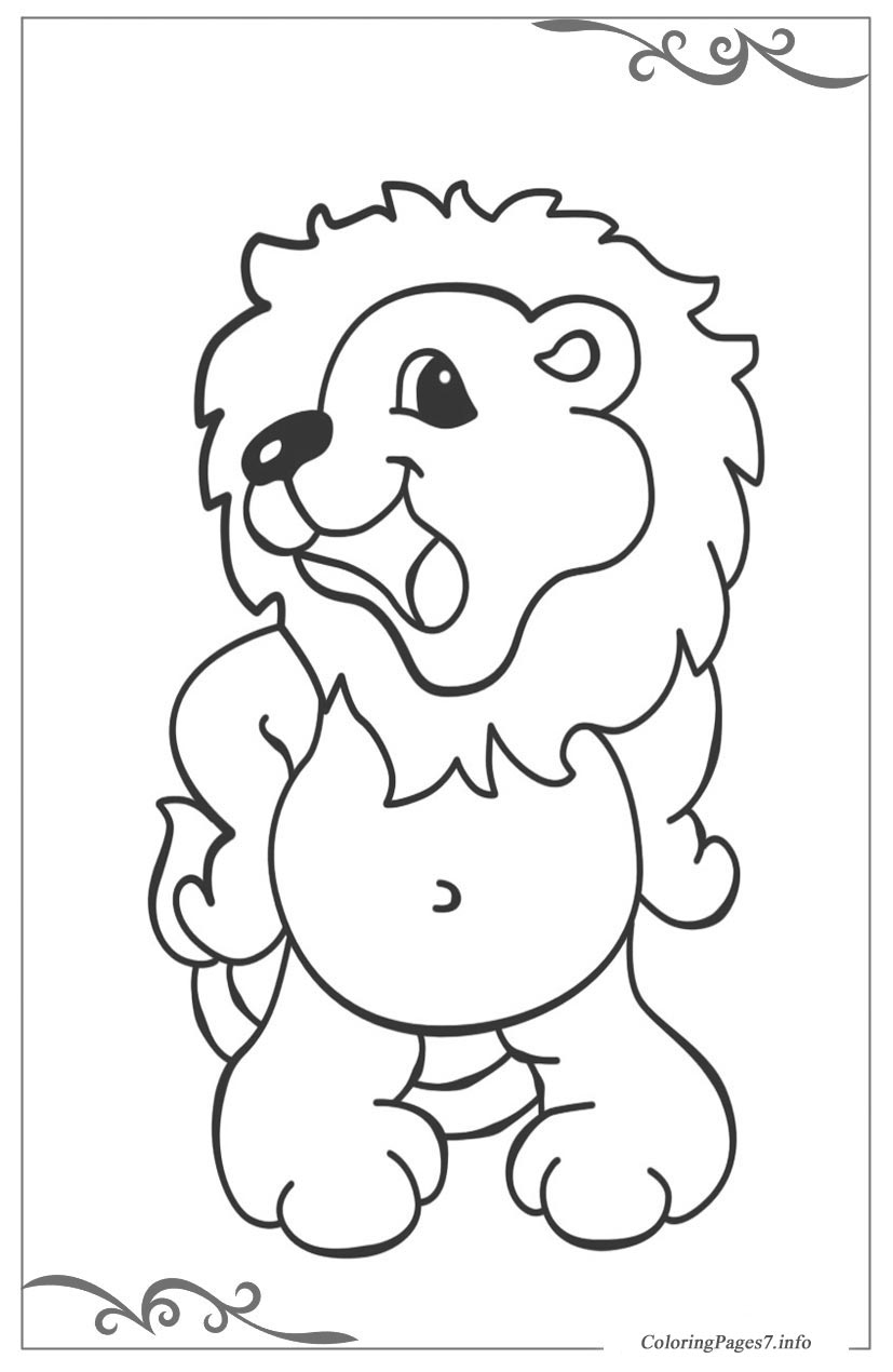 African animals Free coloring page template printing