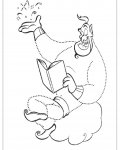 Aladdin Tracing Coloring Page for kids