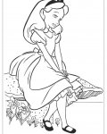 Alice's Adventures in Wonderland Printable Coloring Pages