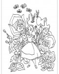 Alice's Adventures in Wonderland Coloring Page for your Little Ones