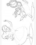 Alice's Adventures in Wonderland Printable Tracing Coloring Page