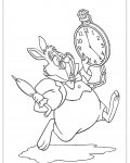Alice's Adventures in Wonderland Coloring page template printing