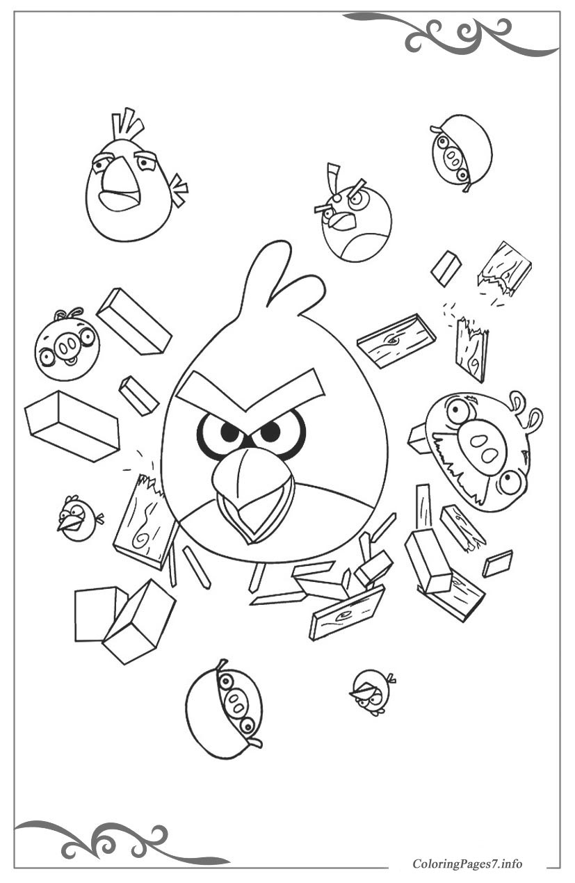 Angry birds Printable Coloring