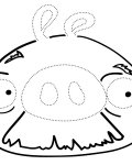Angry birds Printable Tracing Coloring Page