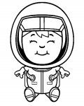 Astronauts Printable Coloring Pages