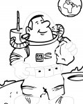 Astronauts Free Tracing Coloring Page