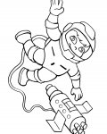 Astronauts Free Online Coloring Pages