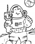 Astronauts Free printable coloring pages