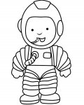 Astronauts Online Coloring Pages for girls
