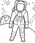 Astronauts Free Coloring Pages