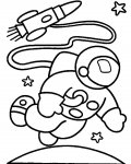 Astronauts Coloring page template printing