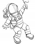 Astronauts Download coloring pages