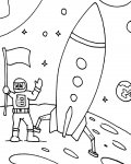 Astronauts Download and print coloring pages for kids