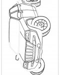 Automobiles Free Tracing Coloring Page