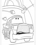 Automobiles Coloring page template printing