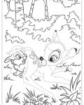 Bambi Tracing Coloring Page for kids