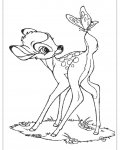 Bambi Coloring page template printing