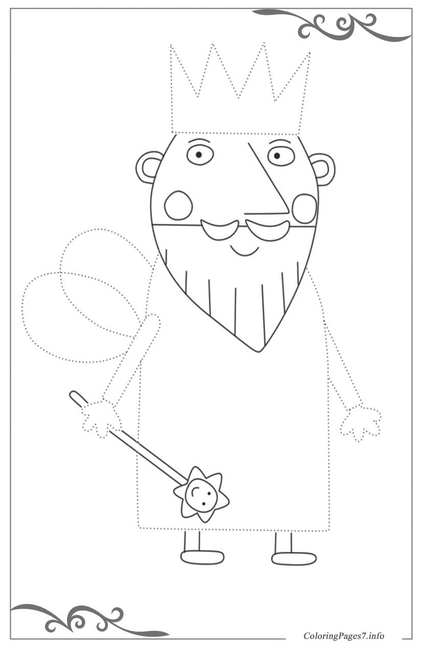 Ben & Holly\'s Little Kingdom Tracing Coloring Page