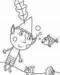 Ben & Holly's Little Kingdom Online Coloring Pages for boys