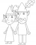 Ben & Holly's Little Kingdom Free coloring pages for boys