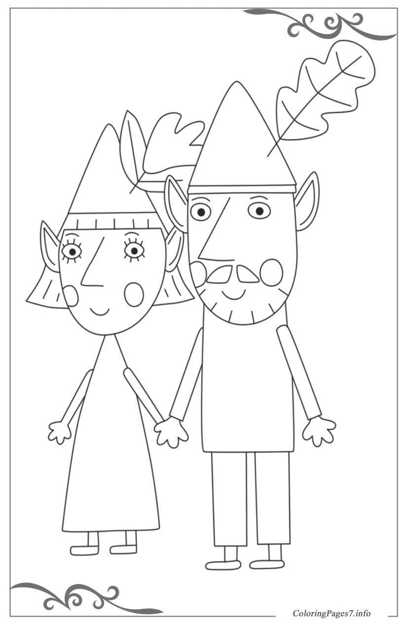 ben  holly's little kingdom download free coloring pages