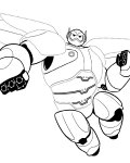 Big Hero 6 Free Tracing Coloring Page