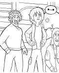 Big Hero 6 Free printable coloring pages