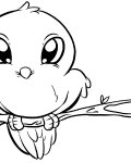 Birds Printable coloring pages for girls