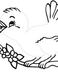 Birds Printable Tracing Coloring Page