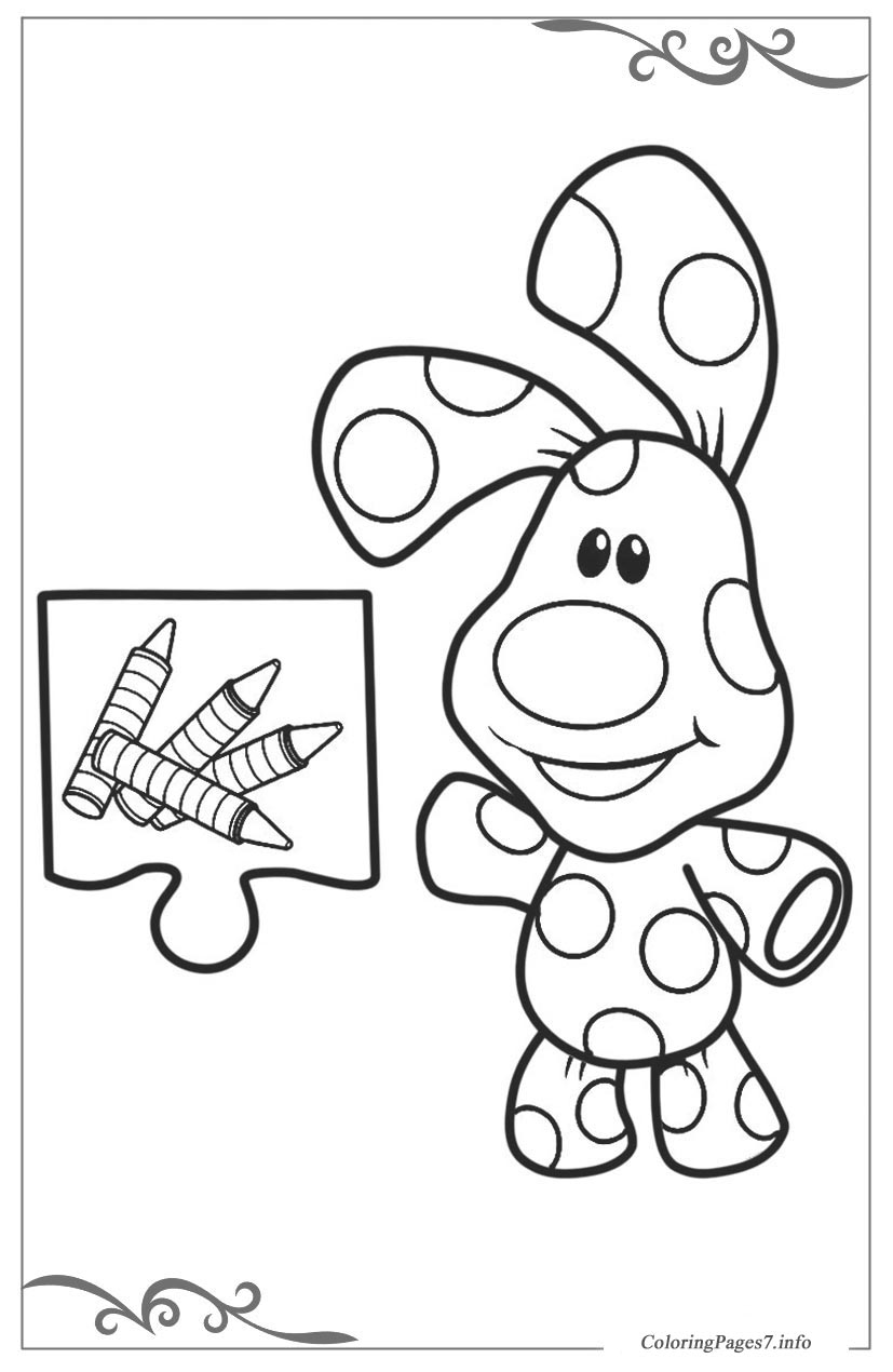 Blue's Clues & You Printable Coloring Page | Nickelodeon Parents | 1270x827