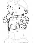 Bob the Builder Free Tracing Coloring Page