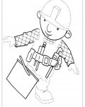 Bob the Builder Printable Tracing Coloring Page