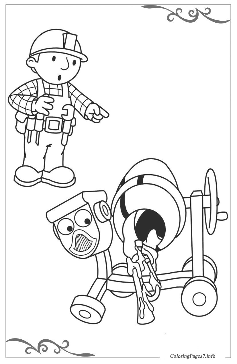 Bob The Builder Coloring Pages For Children