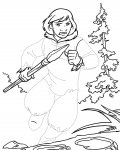 Brother Bear Printable Tracing Coloring Page
