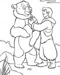 Brother Bear Coloring page template printing