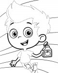 Bubble Guppies Tracing Coloring Page for kids