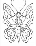 Butterflies Printable coloring pages for girls