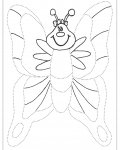 Butterflies Printable Tracing Coloring Page