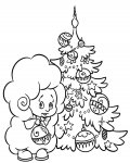 Christmas tree Coloring Page for your Little Ones