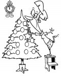 Christmas tree Сoloring pages for girls