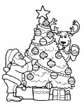 Christmas tree Printable coloring pages for girls